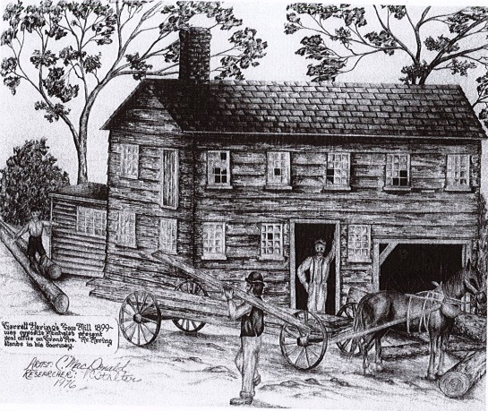 Historic Drawing - click to enlarge